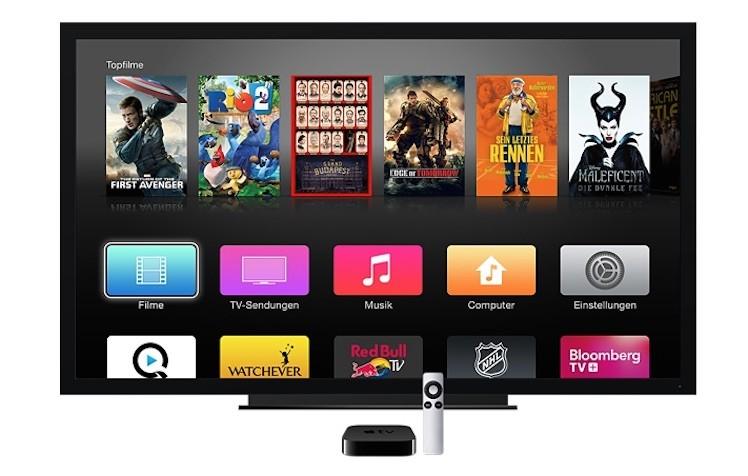 apple tv ansicht tv