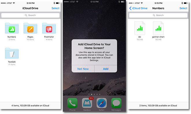 iOS 9 iCloud Drive