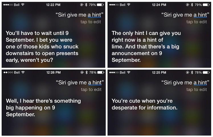 Siri und der 9. September