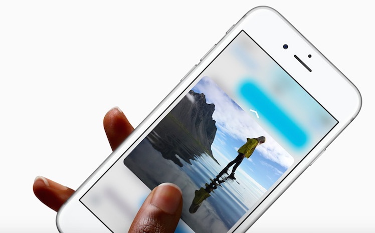 3D touch iPhone 6 S