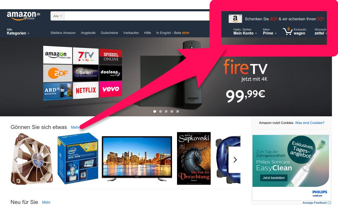 Amazon 10 Euro