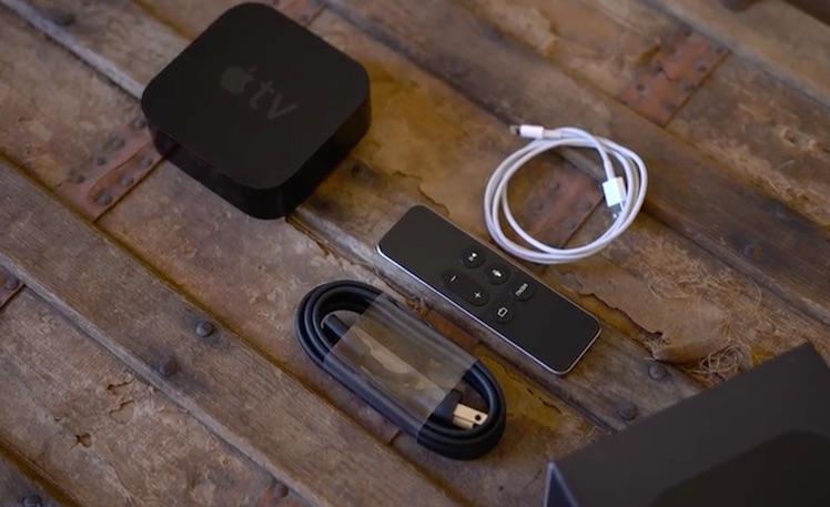 Apple TV 4 ausgepackt