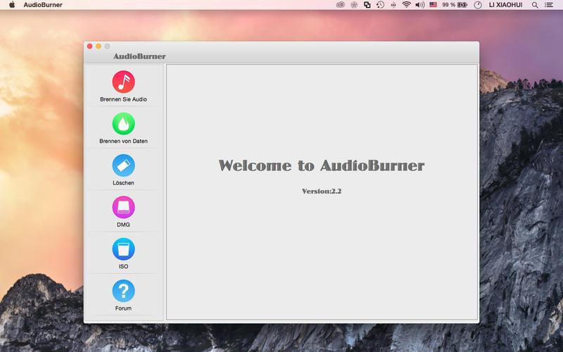 AudioBurner Screen