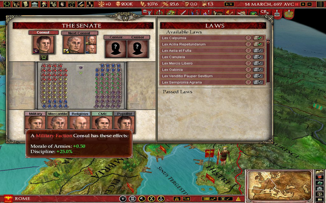 Europa Universalis Rome Gold Screen