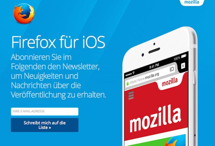 Firefox fuer iOS D