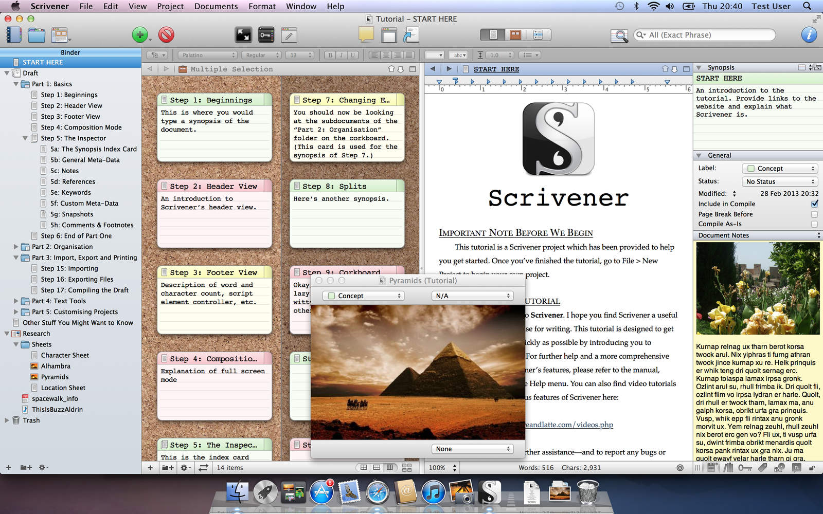 Scrivenger Screen