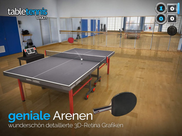Table Tennis Touch Screen