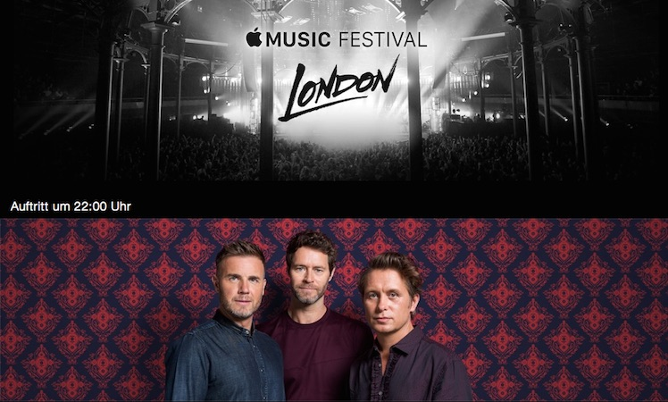 Take That Apple Music Festival