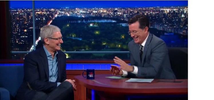 Tim Cook bei Stephen Colbert