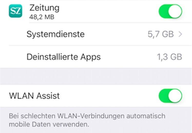 WLAN Assist