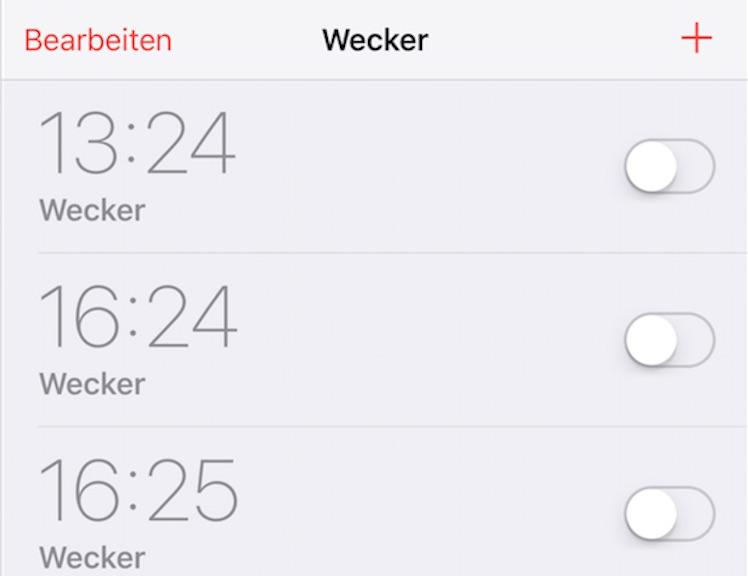 Wecker Weckzeit