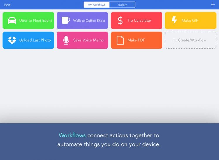 Workflow Screen