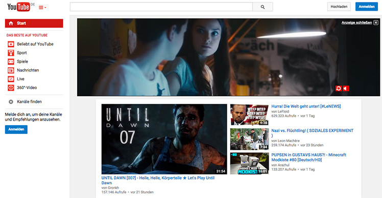 Google kübelt nicht überspringbare 30-Sekunden-Werbung auf YouTube