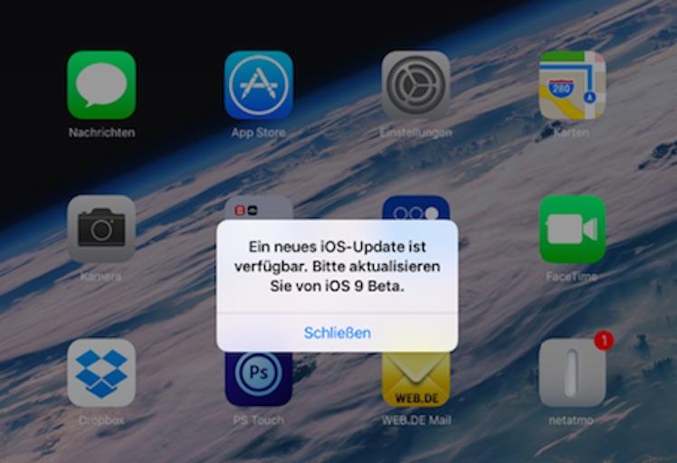 falsche iOS 9 Beta