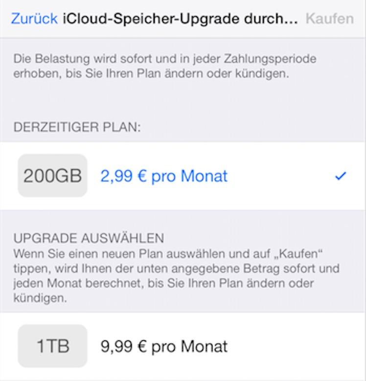iCloud Preise Deutschland neu