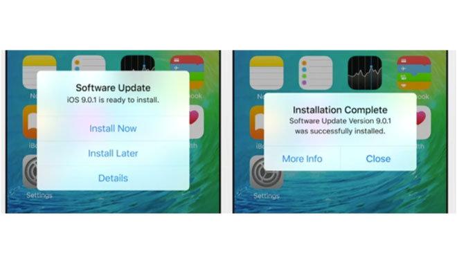 iOS 9 Auto Update Bild