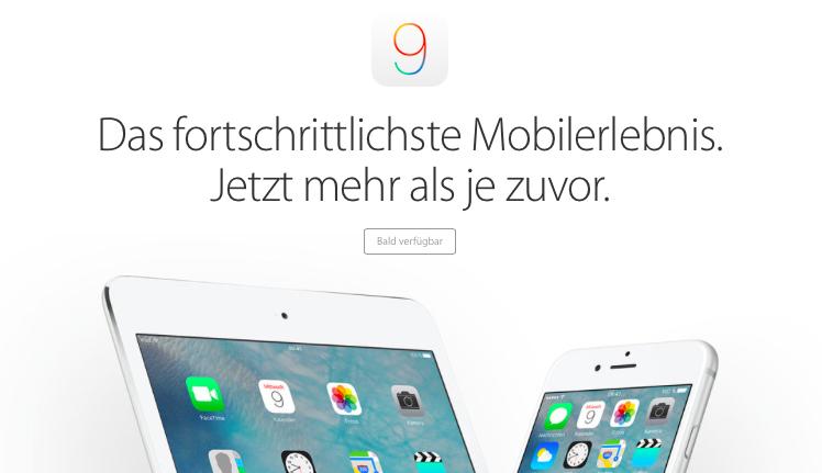 iOS 9 uebersicht foto