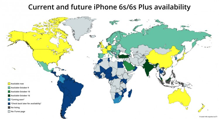 iPhone 6S weltweit