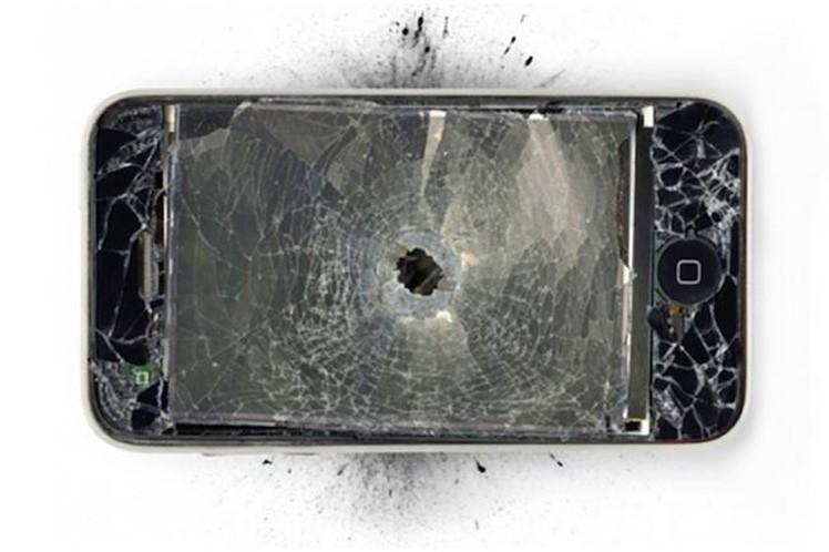 iPhone stoppt Kugel