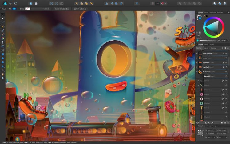 Affinity Designer Screen