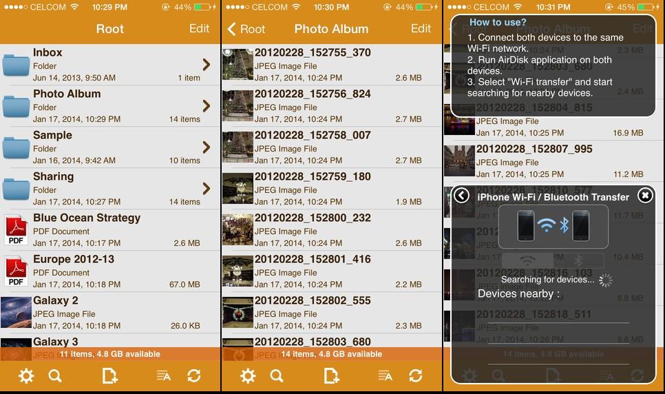 AirDiskPro Screen