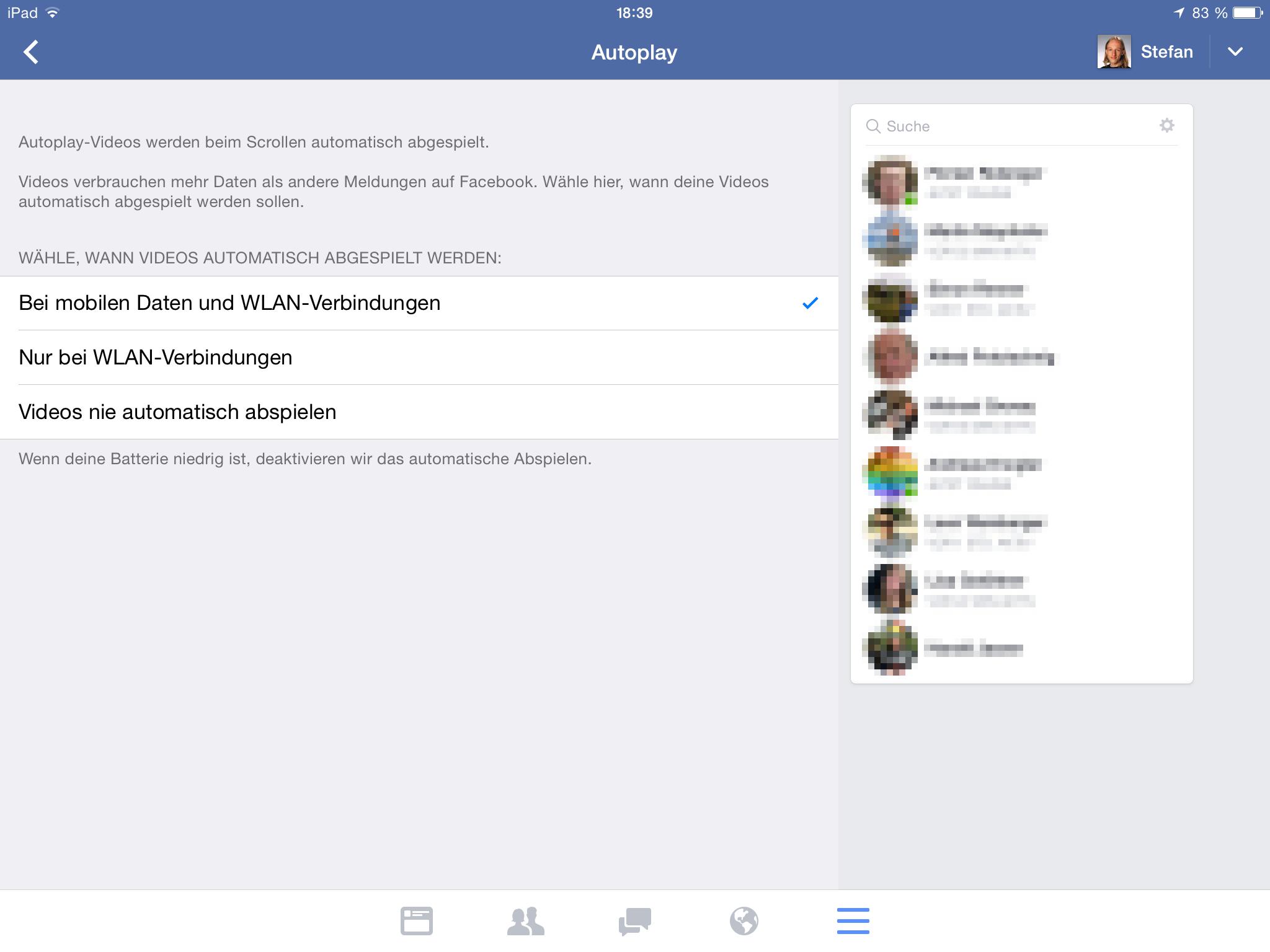 meldung facebook fuer schickt videos fernseher