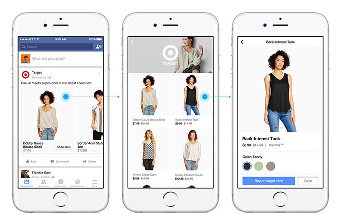 Facebook Shoppting Features