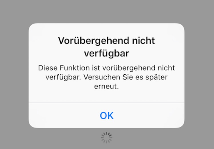 Fehler App Store