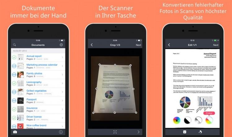 FineScanner Screen