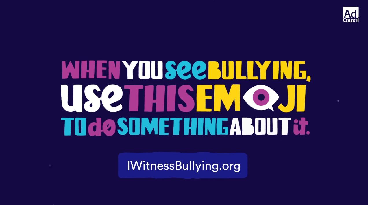 I Witness Bullying Kampagne Bild