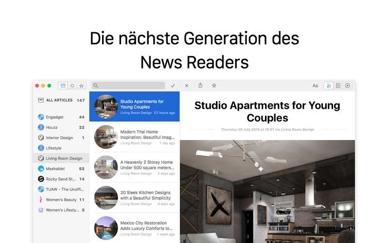 Leaf RSS Reader Screen