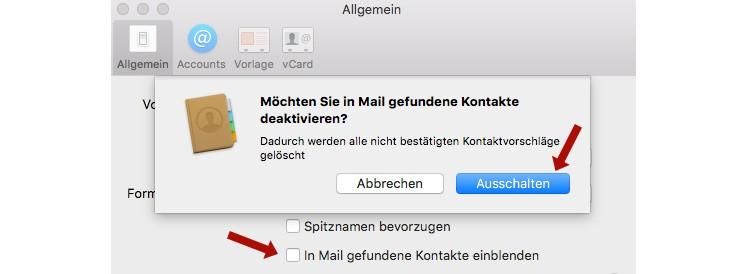 Mail/Kontakte
