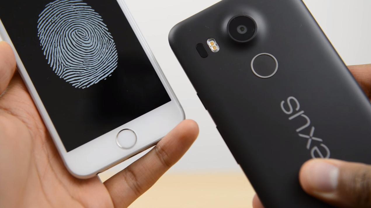 Nexus 5X iPhone 6S Fingerprint TouchID