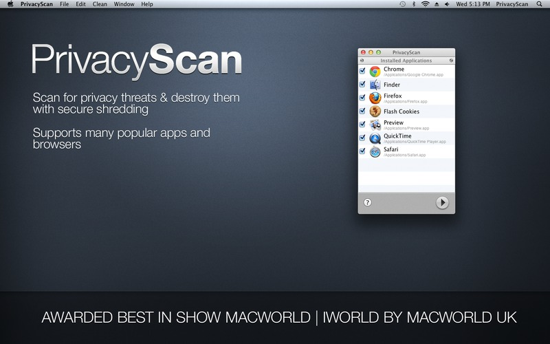 PrivacyScan Screen
