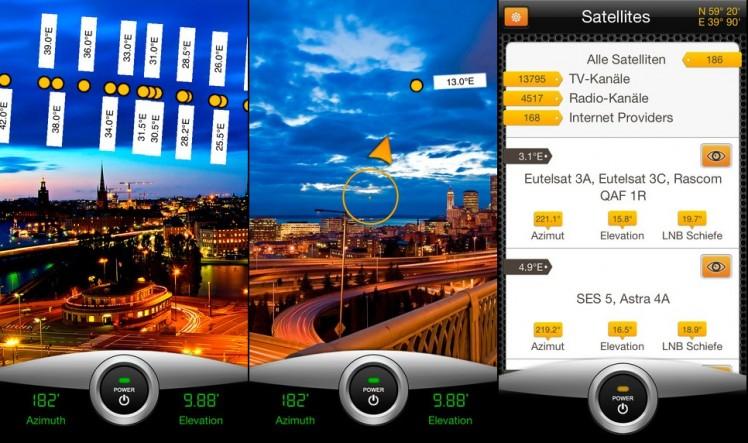 SatFinder Pro Screen