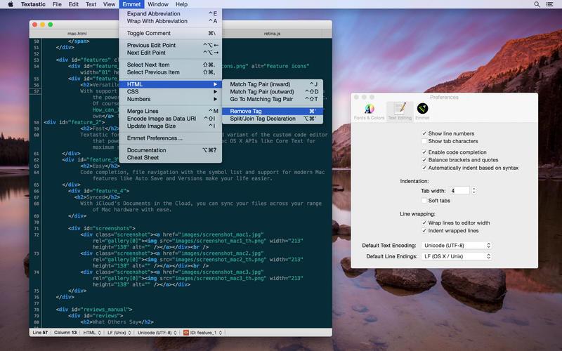 Textastic Mac Screen