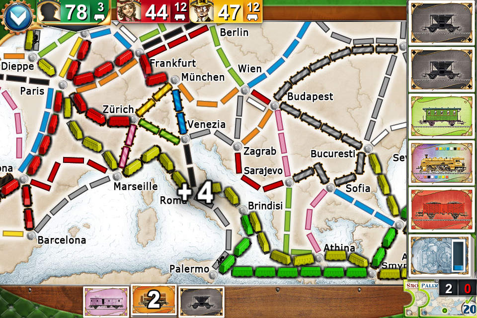 Ticket to Ride Europe Pocket Screen