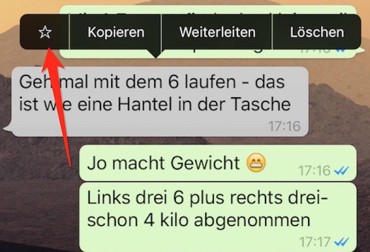 WhatsApp Stern Ansicht