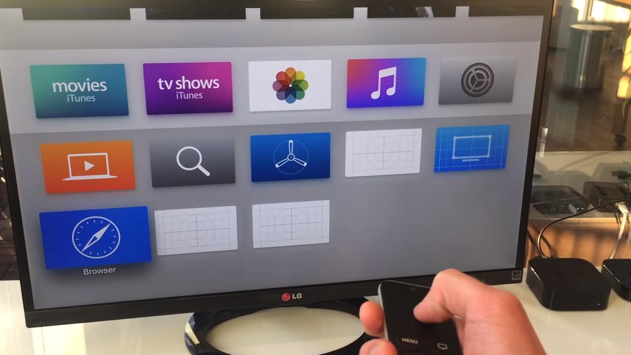 Apple TV Browser Bild
