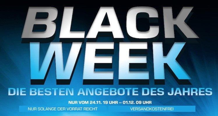 Black Week Saturn Logo