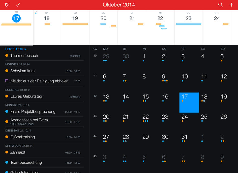 Fantastical 2 iPad SCreen