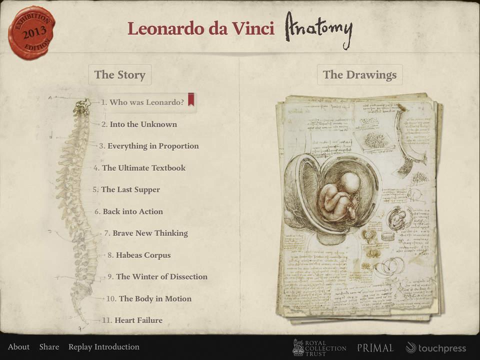 Leonardo da Vinci Anatomy Screen