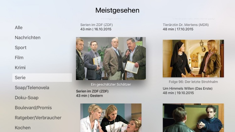 Mediathekensuche Apple TV 4
