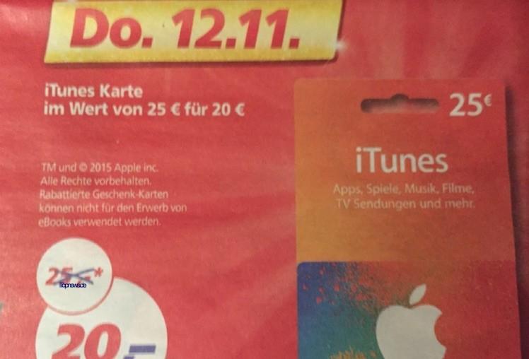 itunes karten 12.11.2015 real