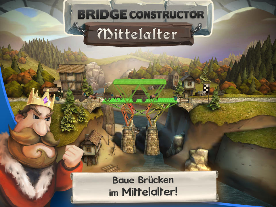 Bridge Constructor Mittelalter Screen