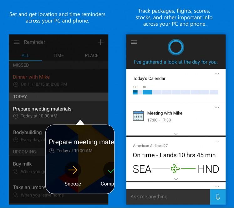 Cortana Bild