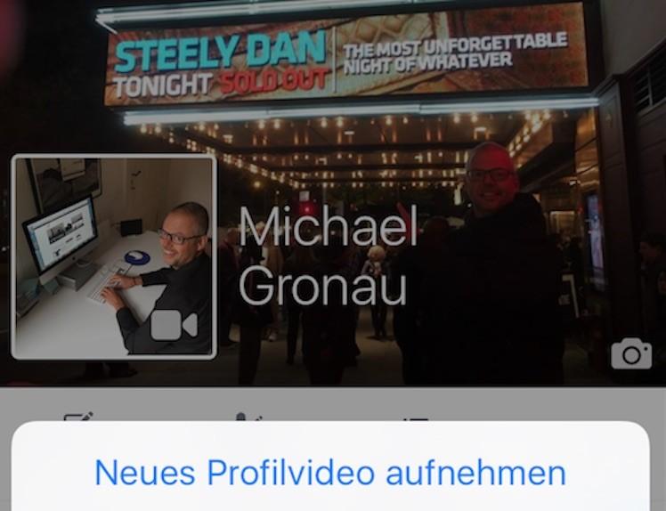 Facebook Profilvideo erstellen