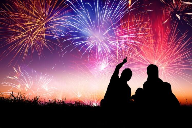Feuerwerk Silvester Neujahr
