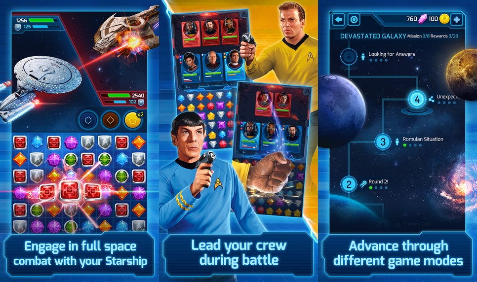 Star Trek Wrath of Gems Screen