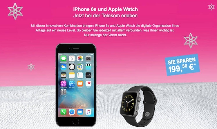 Telekom iPhone 6s plus Watch